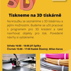 3D tisk - poslední volná místa!!